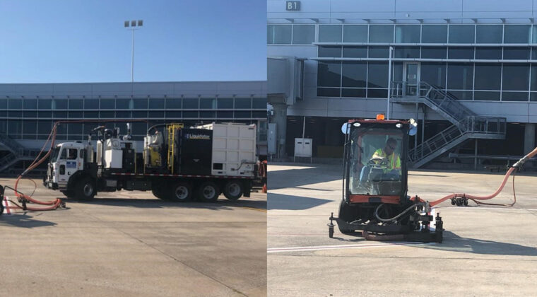 Blasters, Inc contracting team working Birmingham Airport (BHM)