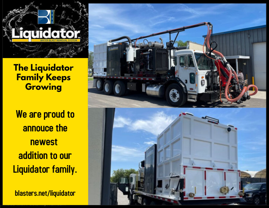 The first one of 3 due out this month! Blasters Liquidator is proud to have another one of our Liquidator L4012VT trucks on the road. #gettingthejobdone #easy #rubberremoval #aviation #paintstriperemoval