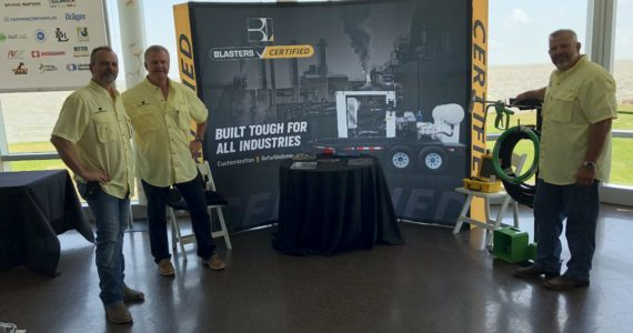 Blasters participating in the BIC crawfish boil with its Blasters Certified product line.