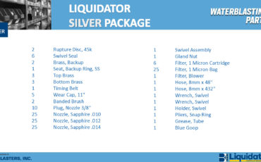 Liquidator Silver Spare Parts Package