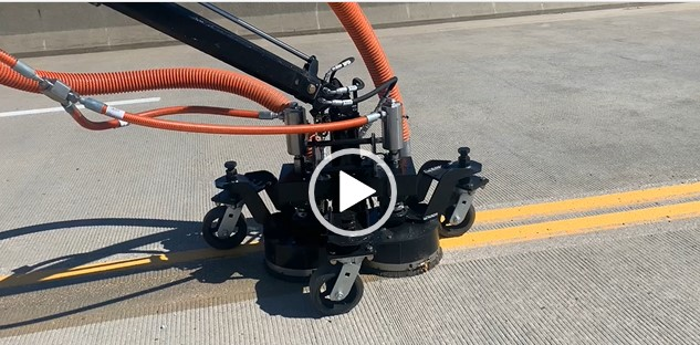 See how it works. Liquidator Paint Stripe and Rubber Removal Equipment