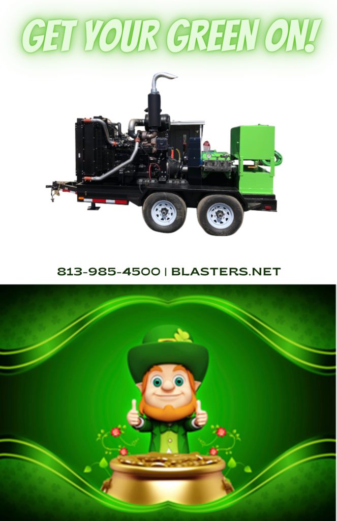 Get your green on at Blasters Inc T3 Water blaster